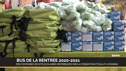 Rentrée 2020-2021: des centaines de Kits scolaires distribuées par la fondation Etisalat à Ifangni
