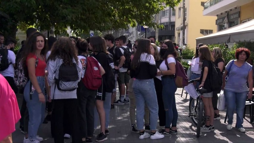 Πορεία διαμαρτυρίας μαθητών Χαλκίδας