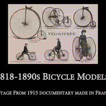 Rare Old Film - Earliest Bicycle Designs -1800s