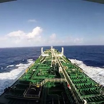 Sailing with Tanker at Pacific Ocean (2020)