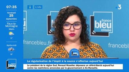 La matinale de France Bleu Creuse du 25/09/2020