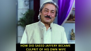 How did Saeed Jaffery became culprit of his own wife