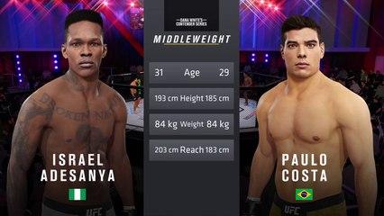 UFC 253: Adesanya vs. Costa –  UFC Middleweight Title Match  - CPU Prediction