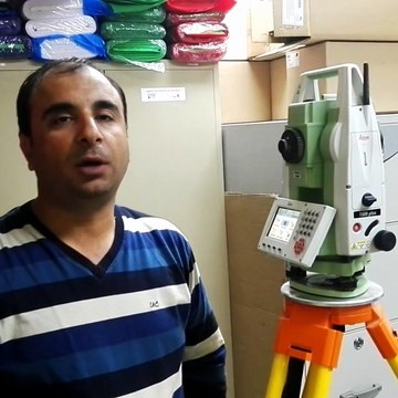 15. Calculate horizontal, Slope distance & Bearing & height different with Total Station TS09 in English