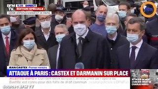 Castex prend la parole sur l'attaque au couteau  qui a eu lieu à Paris