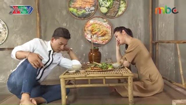 Hoa hậu Jennifer Phạm SAY RƯỢU CẦN cùng Hiếu Nguyễn khi đang quay chương trình