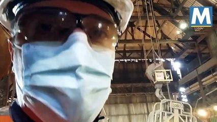 Au coeur du haut- fourneau d' ArcelorMittal