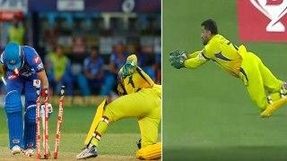 IPL 2020: Chennai vs Delhi   Dhoni பிடித்த Stunning Catch; அற்புதமான Stumping