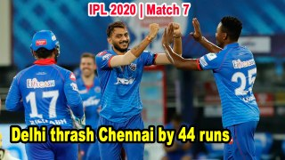 Dream 11 IPL   Match 07   Delhi thrash Chennai by 44 runs