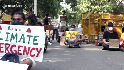 Climate change activists gather in New Delhi