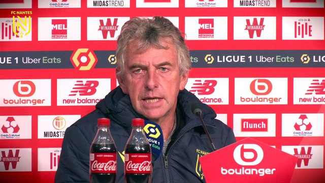 Christian Gourcuff après LOSC - FC Nantes