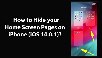How to Hide your Home Screen Pages on iPhone (iOS 14.0.1)?