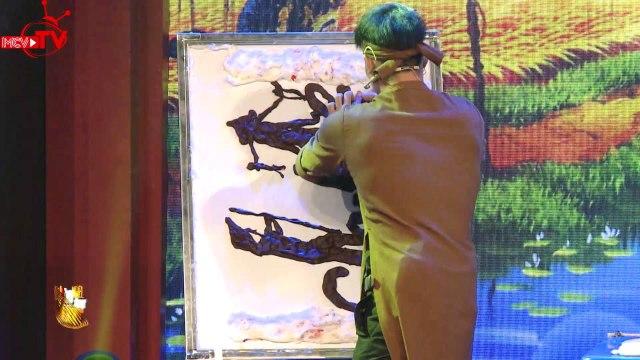 Tiết mục vẽ tranh tò he khiến dàn sao Việt xúc động | BẠN CÓ THỰC TÀI - GALA | Mùa 3 - Tập 16