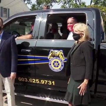 Jill Biden and Doug Emhoff kick-off yard sign distribution