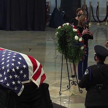 Joe Biden and Dr. Jill Biden pay respects to Rep. John Lewis