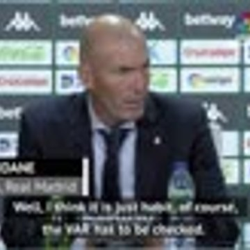 Referee right on VAR call - Zidane on crucial penalty award