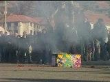 Les Albanais du Kosovo manifestent