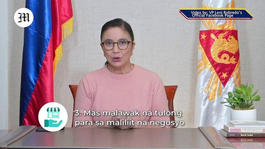 VP Leni Robredo addresses the nation, September 28, 2020