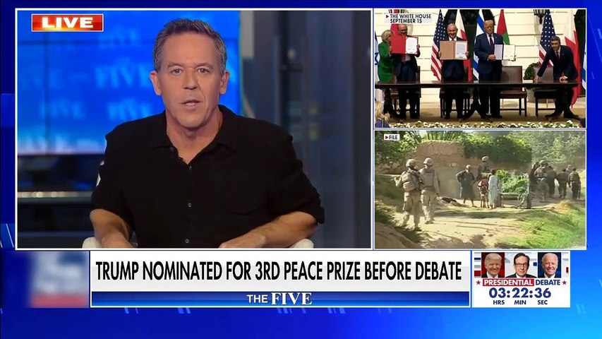#NEWS  Gutfeld on Trump's third Nobel nomination