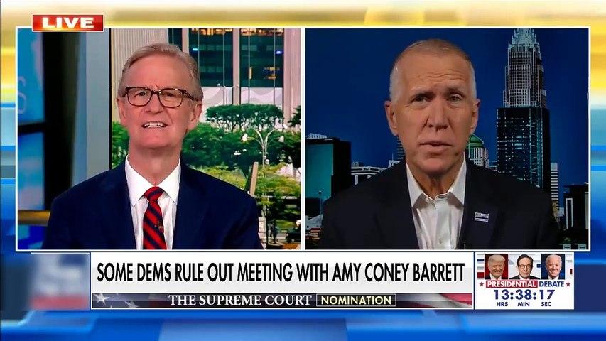 #NEWS  Sen Tillis blasts Dems for refusing to meet with Amy Coney Barrett