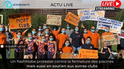 Un flashMobe protester contre la fermeture des piscines