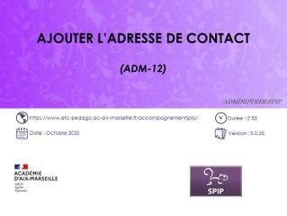 Ajouter l'adresse de contact sur un site SPIP