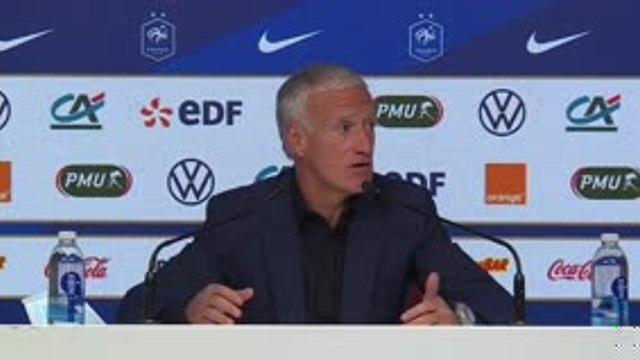 """Bleus - Deschamps : """"Il y aura de la rotation, ça va s'enchaîner vite"""""""