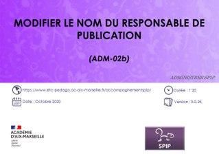 Modifier le nom du responsable de publication sur un site SPIP