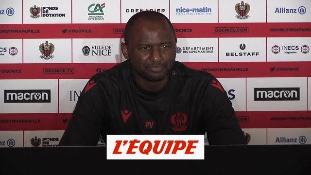 Vieira : «Qu'il n'y ait pas de sanctions, ça me dérange un peu» - Foot - L1 - Nice
