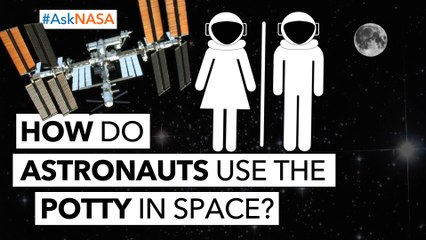 #AskNASA┃ How Do Astronauts Use The Potty In Space?