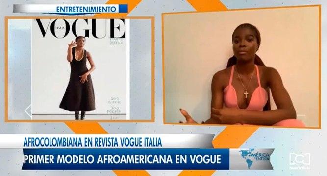 Modelo afrocolombiana en la portada Vogue Italia que triunfa en las mejores pasarelas del mundo