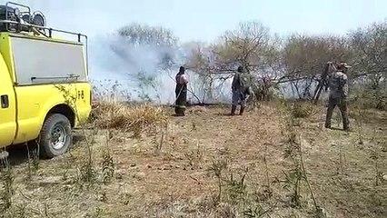 El fuego avanza en Colonia El Tacuruzal