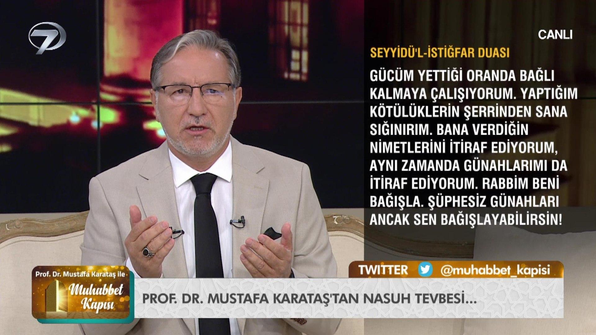 Prof. Dr. Mustafa Karataş ile Muhabbet Kapısı - 1 Ekim 2020 - Dailymotion  Video