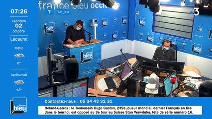 La matinale de France Bleu Occitanie du 02/10/2020