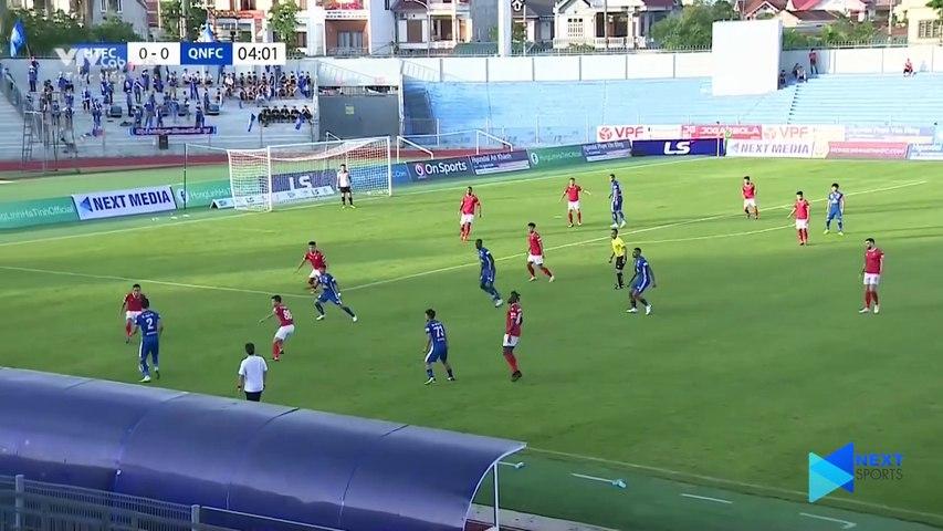 Highlights - Hồng Lĩnh Hà Tĩnh - Quảng Nam FC - 1 thẻ đỏ, 5 bàn thắng và Top 8 vẫy gọi - NEXT SPORTS