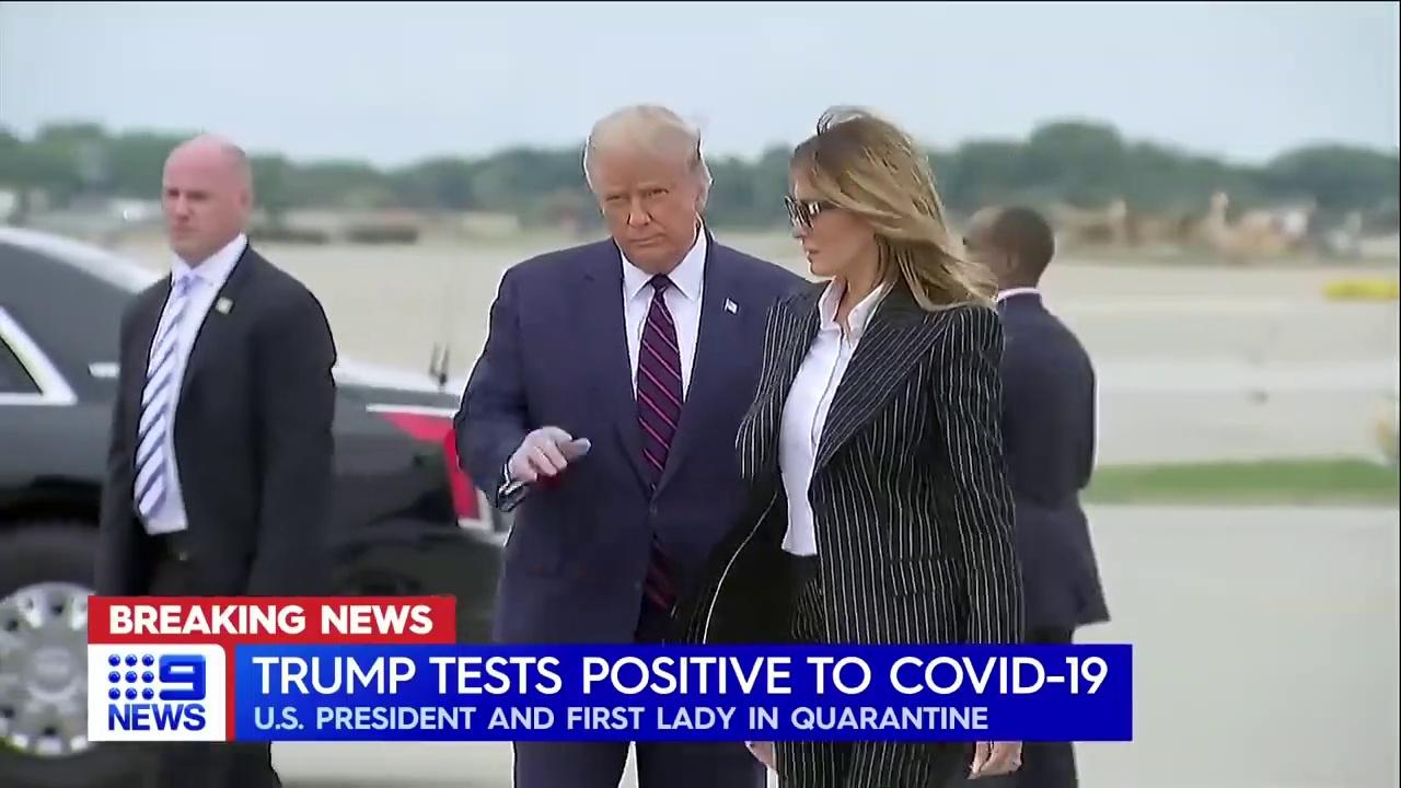 Donald Trump, Melania test positive for COVID-19 – 9 News Australia