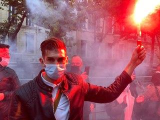 Marseille : Les restaurateurs se mobilisent devant la préfecture de police
