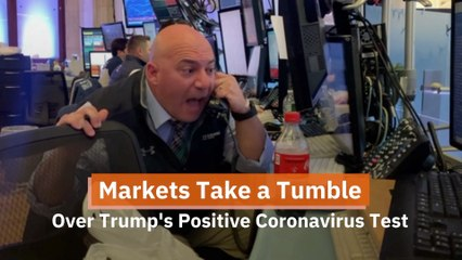 The Stock Market Reacts Negatively To Trump's Illness