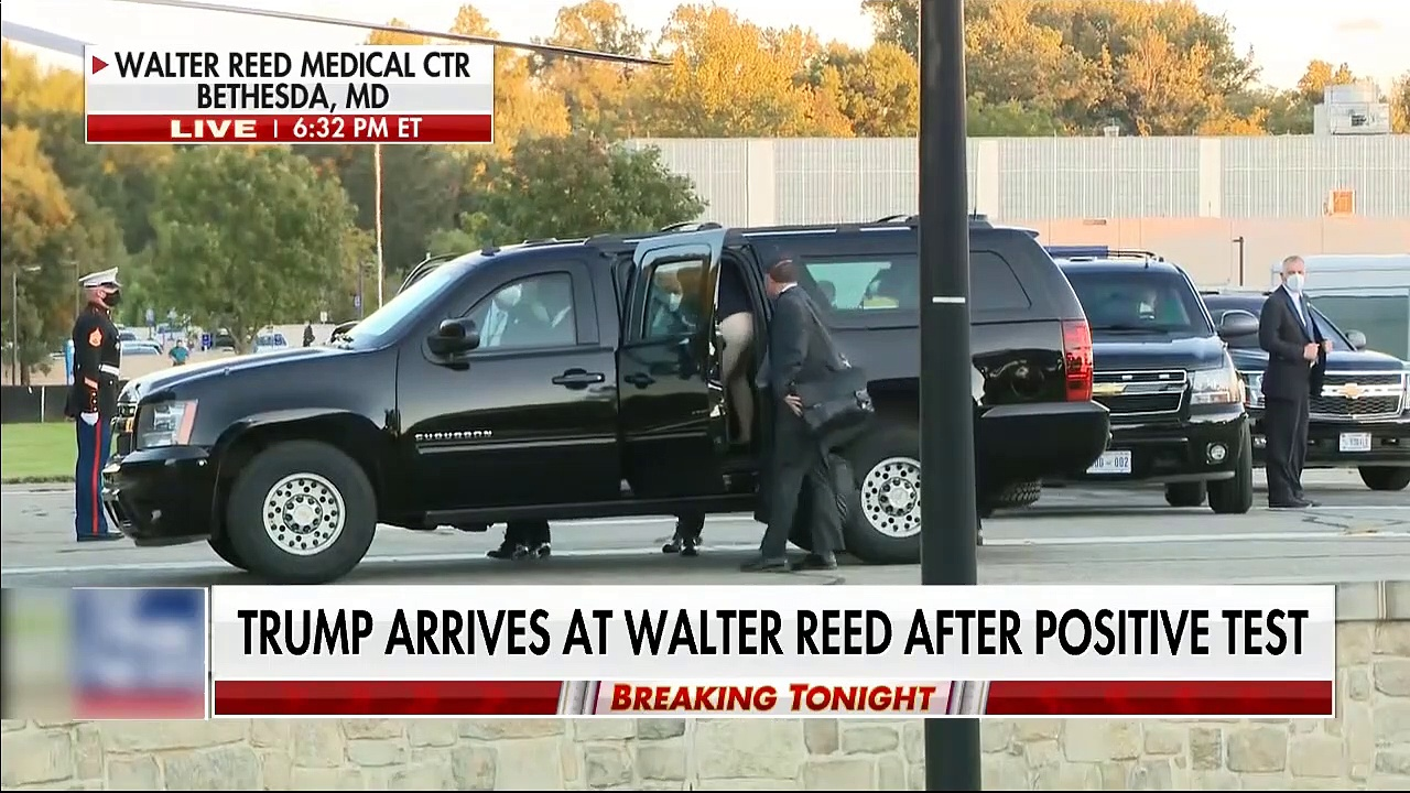 #NEWS| Trump arrives at Walter Reed after testing positive for coronavirus