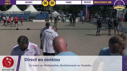 L'équipe de France de LE BOURSICAUD face à BALBINOT : Partie de poules International à pétanque de Bastia août 2020