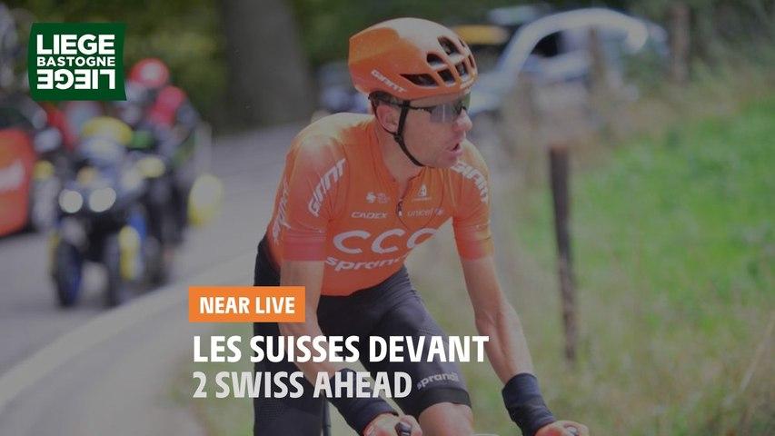 Les suisses en tête / Two swiss ahead - Liège-Bastogne-Liège 2020