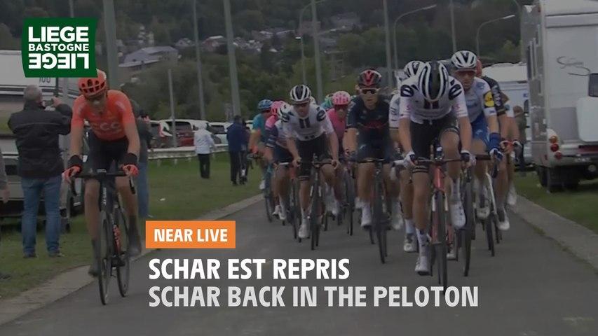 Schar est repris / Schar back in the peloton - Liège-Bastogne-Liège 2020