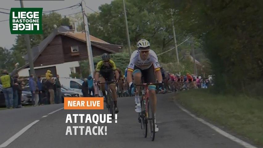 Attaque de Sanchez suivi par Costa / Attack from Sanchez followed by Costa - Liège-Bastogne-Liège 2020