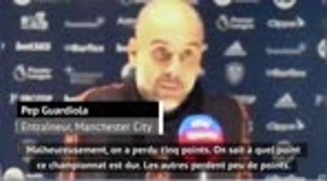 """3e j. - Guardiola : """"Les autres équipes perdent peu de points"""""""