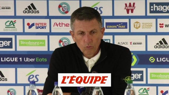 Laurey : « Le score est sévère » - Foot - L1 - Strasbourg