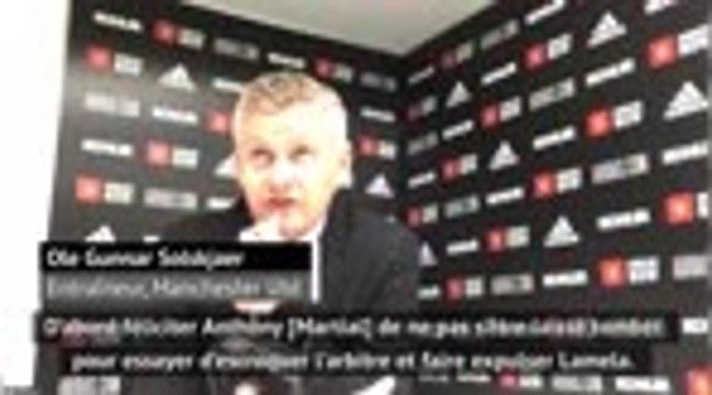 4e j. - Solskjaer remonté contre Lamela après l'expulsion de Martial