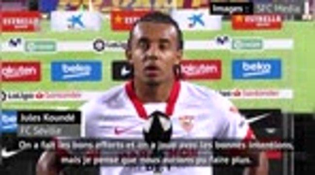 """5e j - Koundé : ''Nous aurions pu faire plus pour gagner ce match"""""""