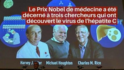 Le Prix Nobel de médecine a été décerné à trois chercheurs qui ont découvert le virus de l'hépatite C_IN