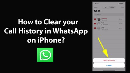 How to Clear your Call History in WhatsApp on iPhone?