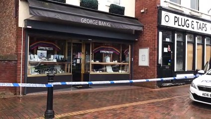 £100k worth of jewellery was stolen from George Banks Jewellers in Lune Street